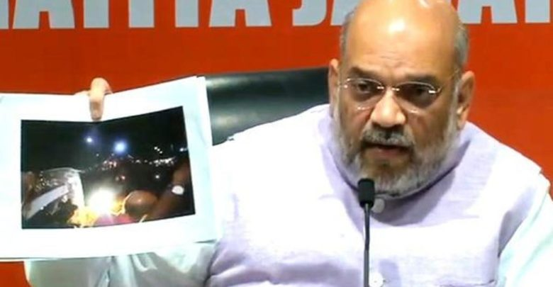 amit shah press conference on bengal riots