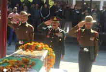 Photo of शहीद सूबेदार अनिल कुमार को दी गयी अंतिम विदाई, लेह लद्दाख में थे तैनात