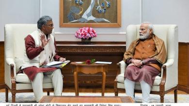 Photo of सीएम रावत मिले प्रधानमंत्री नरेन्द्र मोदी से, हुईं ये ख़ास बातें