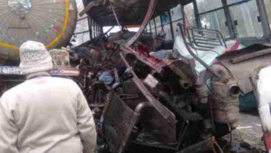 Photo of यूपी के सम्भल में बस और गैस टैंकर की टक्कर, 7 लोगों की मौत
