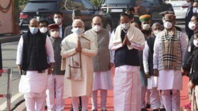 Photo of संसद हमला : प्रधानमंत्री नरेंद्र मोदी समेत कई मंत्रियों ने शहीदों को दी श्रद्धांजलि