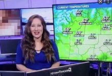 Photo of अमेरिकी एंकर टीवी पर दे रही थीं मौसम की जानकारी, तभी पीछे स्क्रीन पर चलने लगा अश्लील विडिओ